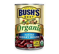 BUSHS BEST Beans Organic Kidney Dark Red Low Sodium - 15 Oz