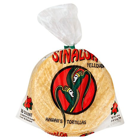 Sinaloa Tortillas Corn Yellow Bag 30 Count - 28 Oz