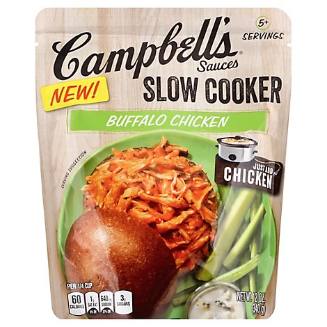 Campbells Sauces Slow Cooker Buffalo Chicken Medium Pouch - 12 Oz