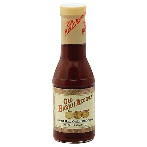 OLD HAWAII RECIPES Sauce BBQ Maui Onion - 14.5 Oz