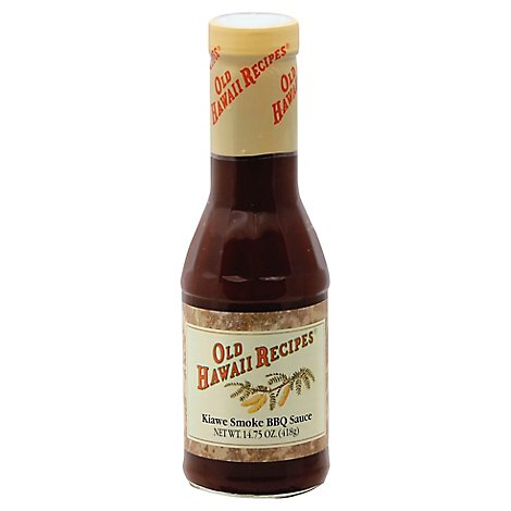 OLD HAWAII RECIPES Sauce BBQ Kiawe Smoke - 14.75 Oz