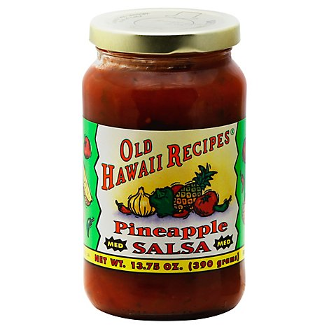 Old Hawaii Recipes Salsa Pineapple Medium Jar - 13.75 Oz
