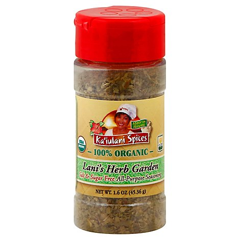 Kaiulani Spices Organic Seasoning All Purpose Salt & Sugar Free Lanis Herb Garden - 1.6 Oz