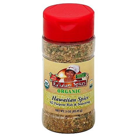 Kaiulani Spices Organic Rub & Seasoning All Purpose Hawaiian Spice - 3 Oz