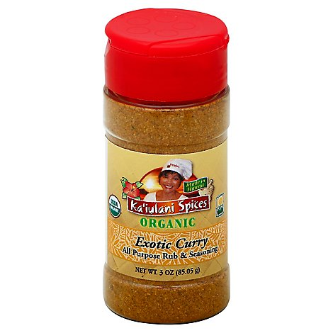 Kaiulani Spices Organic Rub & Seasoning All Purpose Exotic Curry - 3 Oz