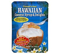 Hawaiis Best Powdered Syrup Mix Coconut - 4 Oz