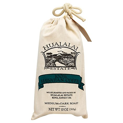 Hualalai Estate Coffee Grind Medium-Dark Roast Hawaiian Coffee Canvas - 10 Oz