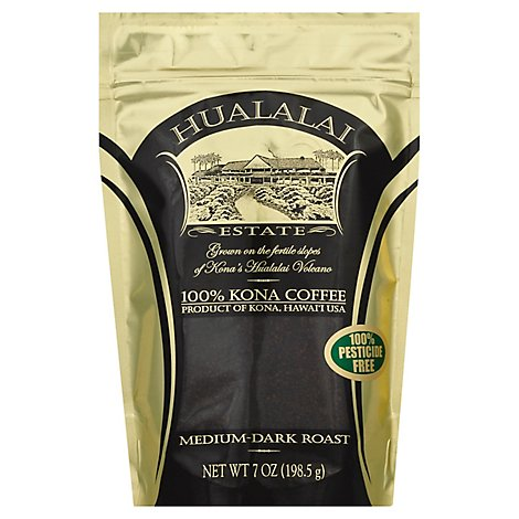 Hualalai Estate Coffee Grind Medium-Dark Roast Kona Coffee - 7 Oz