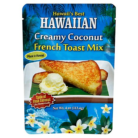 Hawaiis Best Hawaiian Creamy Coconut French Toast Mix - 4 Oz