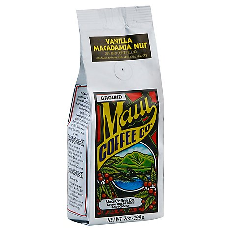 Maui Coffee Co. Coffee Ground 20% Maui Vanilla Macadamia Nut - 7 Oz