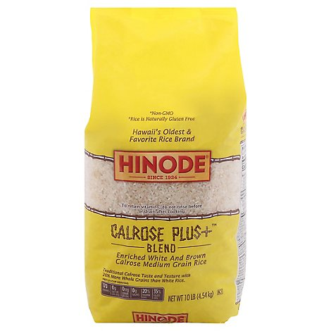 Hinode Rice Calrose Hapa Blend Enriched White and Brown - 10 Lb