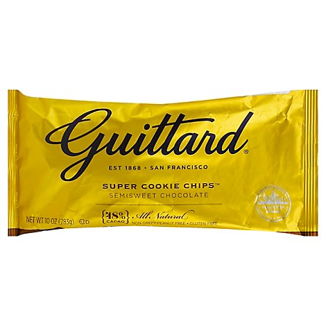 Guittard Baking Chips Super Cookie Chips Semisweet Chocolate - 10 Oz