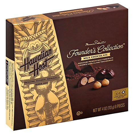 Hawaiian Host Whole & Halves Chocolate Covered Macadamia Nut - 4 Oz