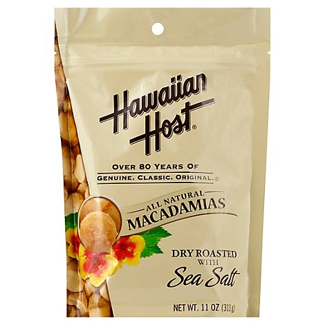 Hawaiian Host Macadamias Dry Roasted with Sea Salt - 11 Oz