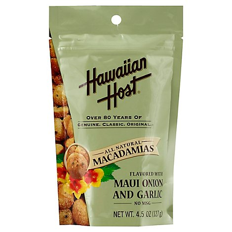 Hawaiian Host Macadamias Flavored with Maui Onion and Garlic - 4.5 Oz