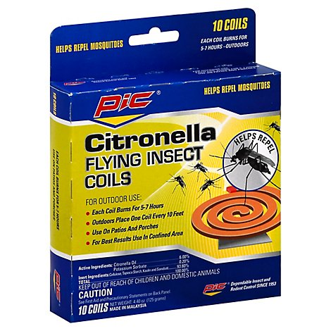 Pic Citronella Flying Insect Coils - 10 Count