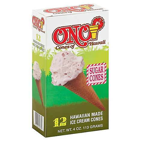 Ono Cones of Hawaii Sugar Cones - 12 Count