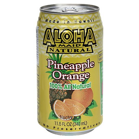 Aloha Maid Pineapple Orange Juice - 6-11.5 Fl. Oz.