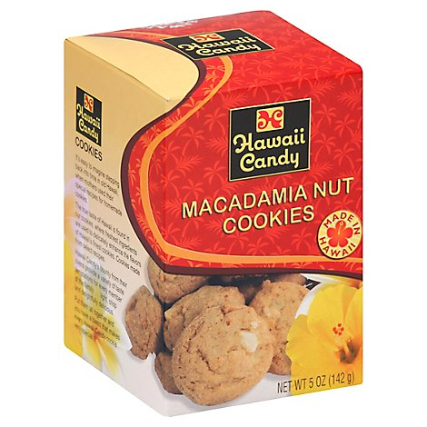 Hawaii Candy Macadamia Nut Cookies - 5 Oz