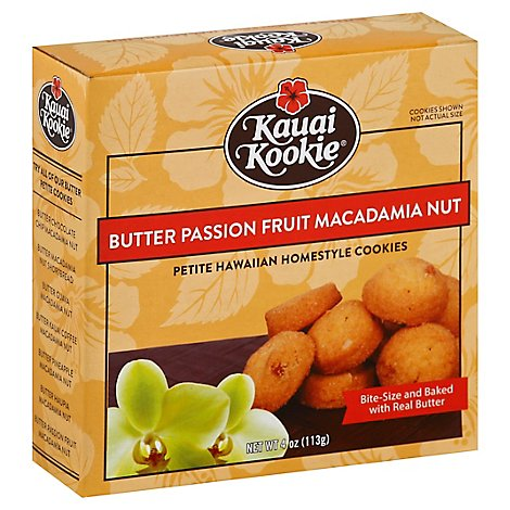 Kauai Kookie Butter Petite Passion Fruit Mac - 4 Oz