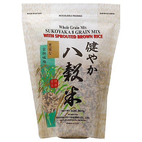 Shirakiku Whole Grain Mix Sukoyaka 8 with Sprouted Rice Brown - 2 Lb