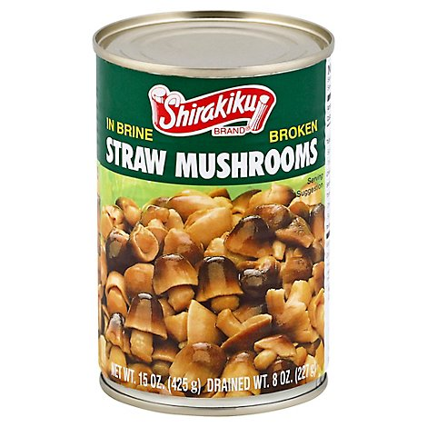 Shirakiku Mushrooms Straw Broken - 14.1 Oz