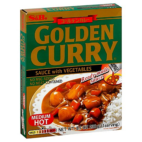 S&B Golden Curry W/Vegetable Medium/Hot - 8.1 Oz