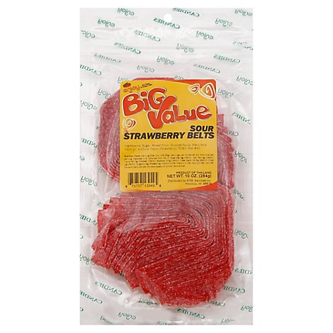 Enjoy Big Value Sour Strawberry Belts - 10 Oz