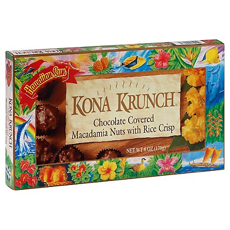 Hawaiian Sun Kona Krunch Candy - 6 Oz