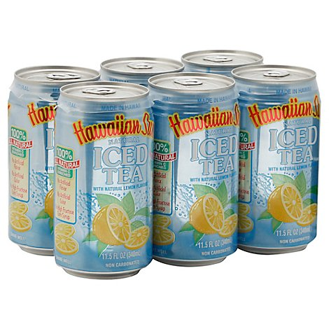 Hawaiian Sun Lemon Iced Tea - 6-11.5 Fl. Oz.