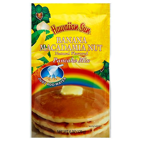 Hawaiian Sun Banana Macadamia Nut Pancake Mix - 6 Oz