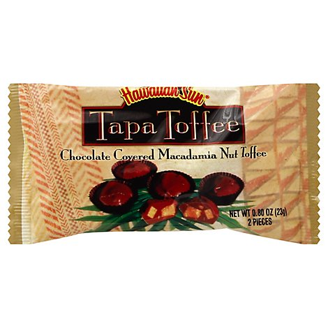 Hawaiian Sun Tapa Toffee Chocolate Covered Macadamia Nut - 0.8 Oz