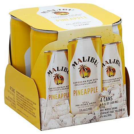 Malibu Rum Pineapple Cocktail Can - 4-200 Ml