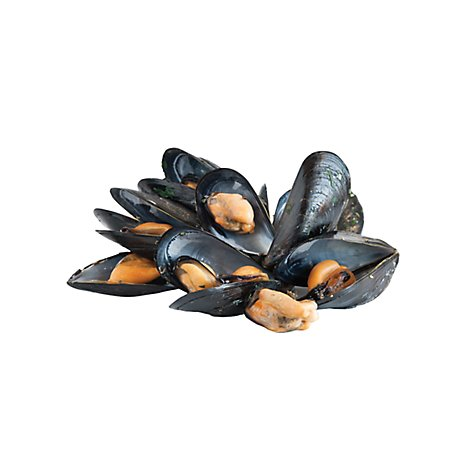 Seafood Service Counter Mussel Green Lip Cooked Meat Previously Frozen - 1.00 LB