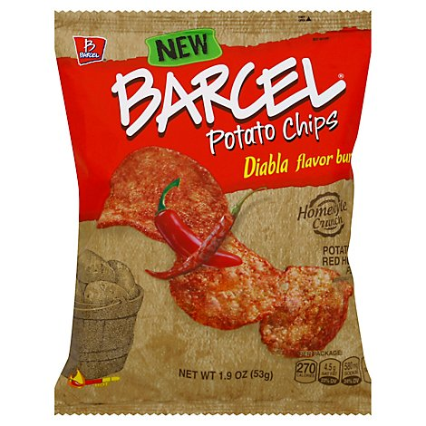Barcel Potato Chips Diabla Flavor Burst Red Hot Pepper Bag - 1.9 Oz