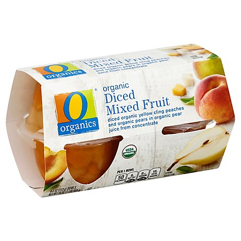 O Organics Organic Mixed Fruit Diced - 4-4 Oz