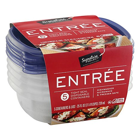 Signature SELECT Containers Storage Tight Seal Entree - 5 Count