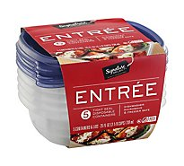 Signature SELECT/Home Containers Storage Entree Tight Seal - 5 Count