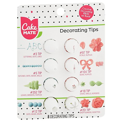 Cake Mate Decorating Tips - 8 Count
