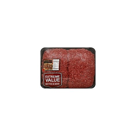 Meat Counter Beef Ground Beef 80% Lean 20% Fat Mega Pack Market Trim - 5.50 LB