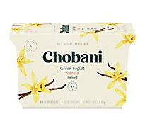 Chobani Yogurt Greek Non-Fat Blended Vanilla - 4-5.3 Oz