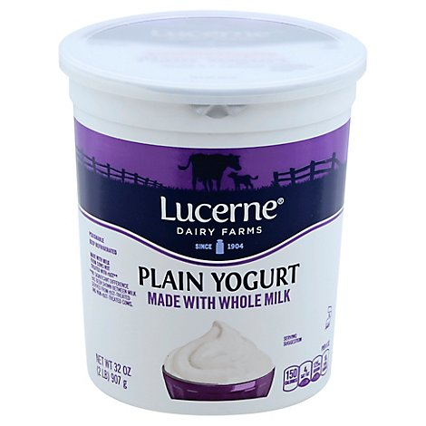Lucerne Yogurt Whole Milk - 32 Oz