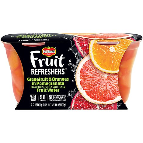 Del Monte Fruit Refreshers Grapefruit & Oranges in Pomegranate Fruit Water Cups - 2-7 Oz
