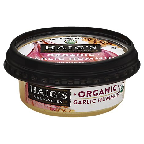 Haigs Garlic Organic Hummus - 8 Oz