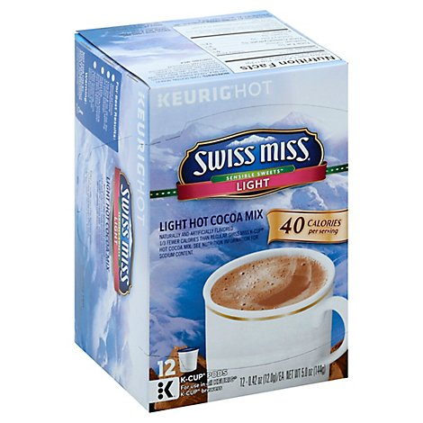 Swiss Miss Cocoa Mix Hot K-Cup Pods Sensible Sweets Light - 12-0.42 Oz