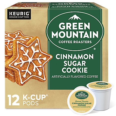 Green Mountain Coffee Coffee K-Cup Pods Seasonal Selections Cinnamon Sugar Cookie - 12 Count
