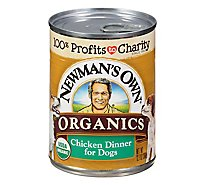 Newmans Own Organics Dog Food Grain Free Chicken Dinner Can - 12.7 Oz