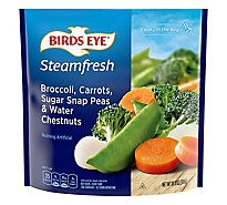 Birds Eye Steamfresh Vegetables Mixtures Broccoli Carrots Sugar Snap Peas & Chestnuts - 10.8 Oz