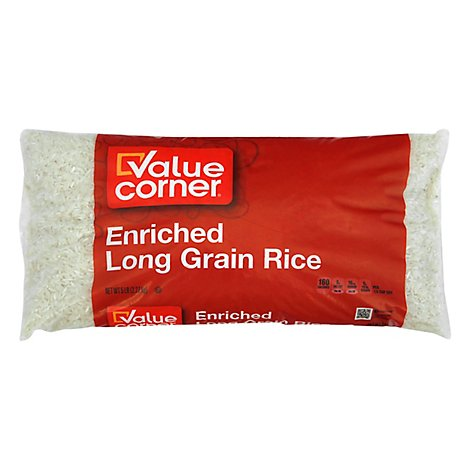 Value Corner Rice Enriched Long Grain - 5 Lb