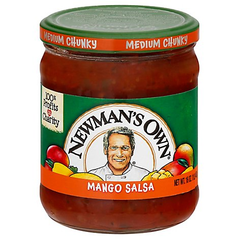 Newmans Own Salsa Medium Chunky Mango Jar - 16 Oz